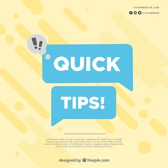 Modern concept met snelle tips