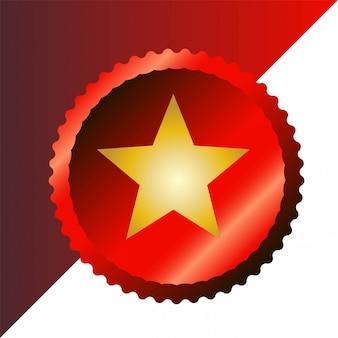 Modern corner stars ribbon-logo