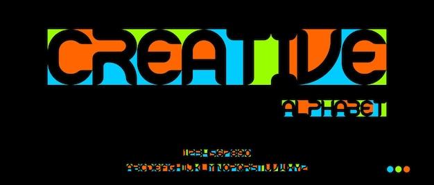 Modern creatief alfabet met sjabloon voor stedelijke stijl