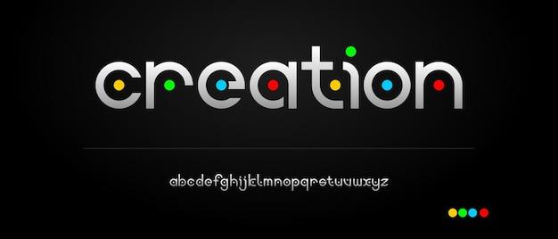 Modern creatief alfabet met stedelijke stijlsjabloon