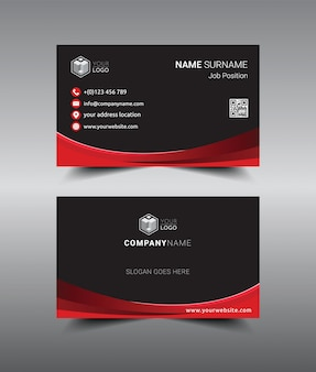 Modern creatief en schoon sjabloonontwerp voor visitekaartjes.