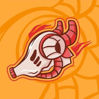 Modern cyborg-mascotte-logo robotachtig wezen als het belangrijkste pictogramsjabloonontwerpmecha