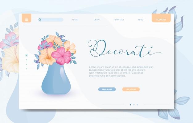 Modern design website sjabloon