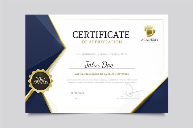 Modern diploma sjabloon
