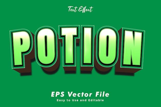Modern drankje tekst typografie effect sjabloon