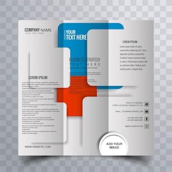 Modern driebladige brochure