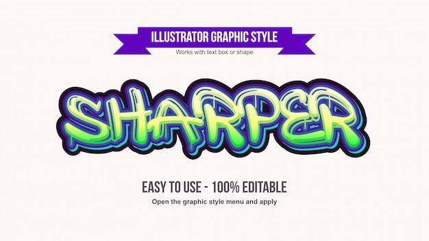 Modern druipend groen graffiti bewerkbaar teksteffect