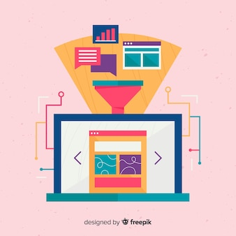 Modern e-mail marketing concept
