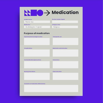 Modern eenvoudig ati medisch werkblad
