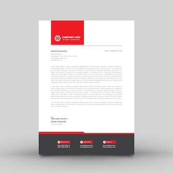 Modern eenvoudig briefhoofdsjabloon voor bedrijf