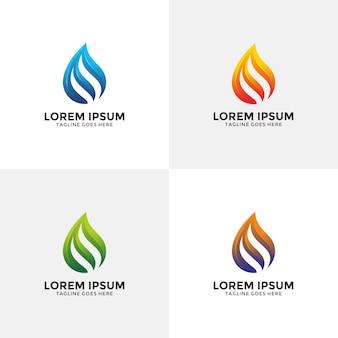 Modern en creatief vlamlogo ontwerpsjabloon met optiekleur.