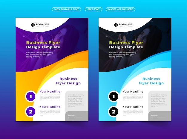Modern en creatief zakelijk flyerontwerp