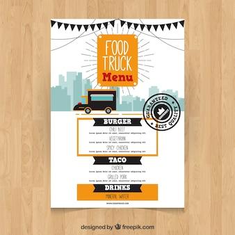 Modern en elegant voedsel truck menu