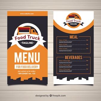 Modern en koel voedsel truck menu