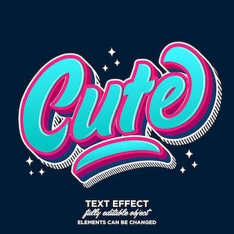 Modern en schattig lettertype-effect