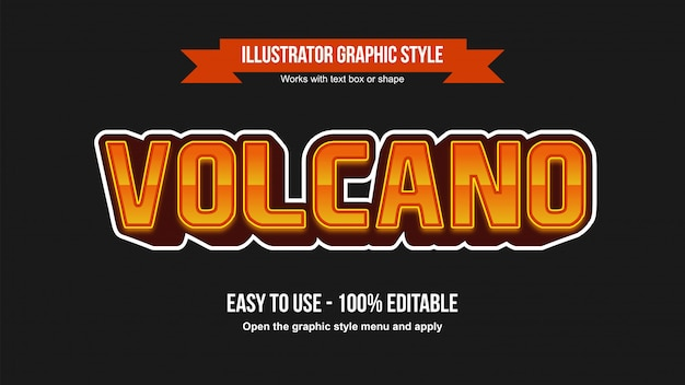 Modern esports gaming 3d oranje bewerkbaar teksteffect