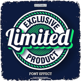 Modern exclusief logo met embleembadge