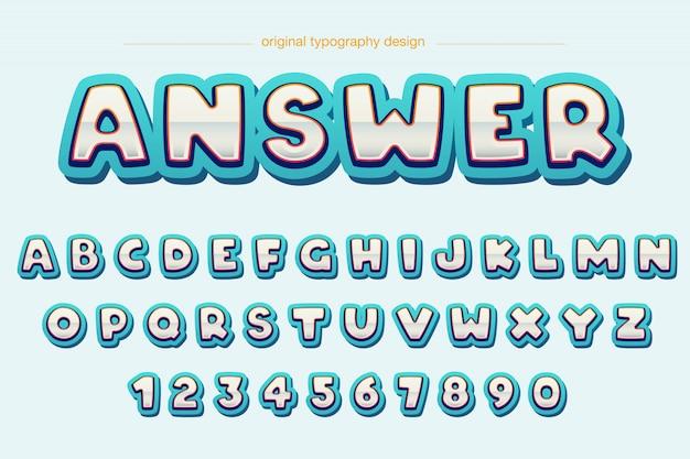 Modern extra vet rond gemaakt grappig typografieontwerp