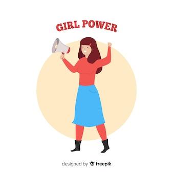Modern feminismeconcept met vlak ontwerp