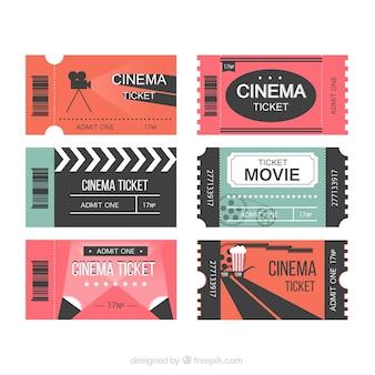 Modern filmtickets