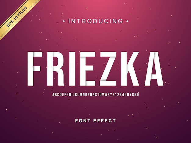 Modern flip alfabet lettertype effect