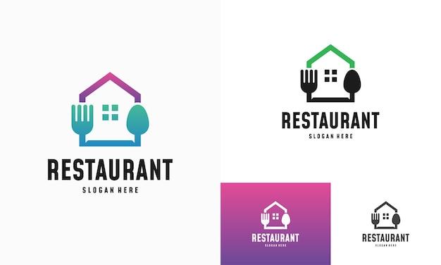 Modern food house logo ontwerpen concept vector, restaurant logo symboolpictogram