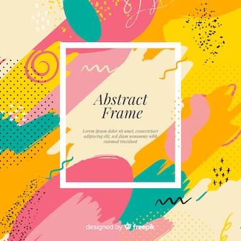 Modern frame met abstracte vormen