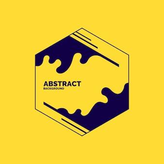 Modern frame op gele achtergrond. heldere poster met dynamische spatten. vector illustratie minimale vlakke stijl