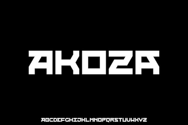 Modern futuristisch modern geometrisch lettertype