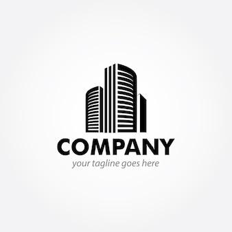 Modern gebouw logo ontwerp