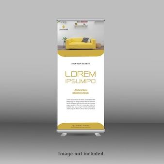 Modern geel modern oprolbaar staand bannerontwerp
