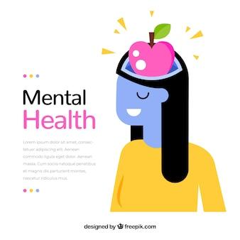 Modern geestelijk gezondheidsconcept met vlak ontwerp