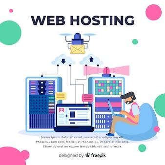 Modern gegevens hosting concept
