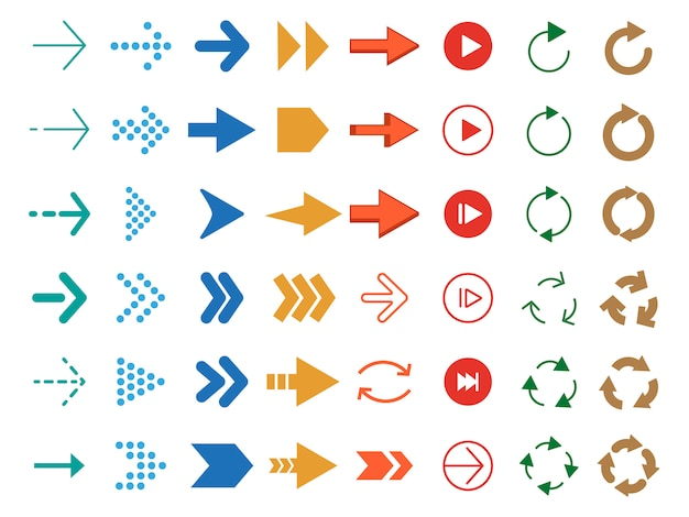 Modern gekleurde pijlen.