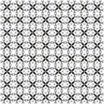 Modern geometrisch bloemenpatroon met. halve cirkels in retro flat