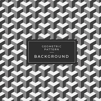Modern geometrisch monochroom tegelpatroon voor behang