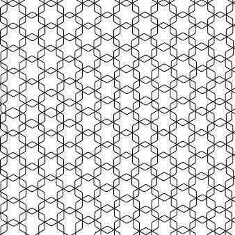 Modern geometrisch naadloos illustratiepatroon in arabische stijl