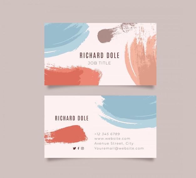 Modern geschilderd visitekaartje