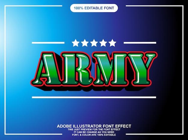 Modern gewaagd editeerbaar teksteffect voor illustrator