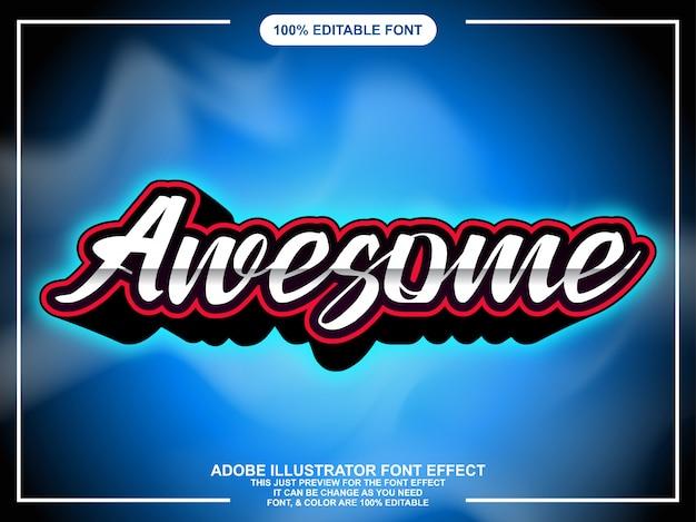 Modern geweldig script met gloedlettertype-effect