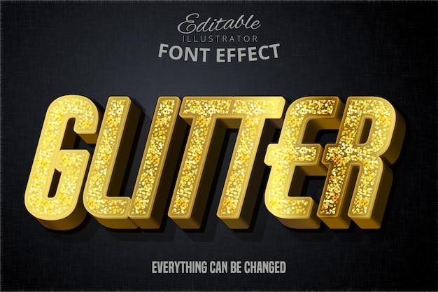 Modern glitter script bewerkbaar typografie lettertype effect