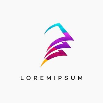 Modern golvend geld logo ontwerpt sjabloon vector, financiën logo ontwerpt vector, logo symbool icoon