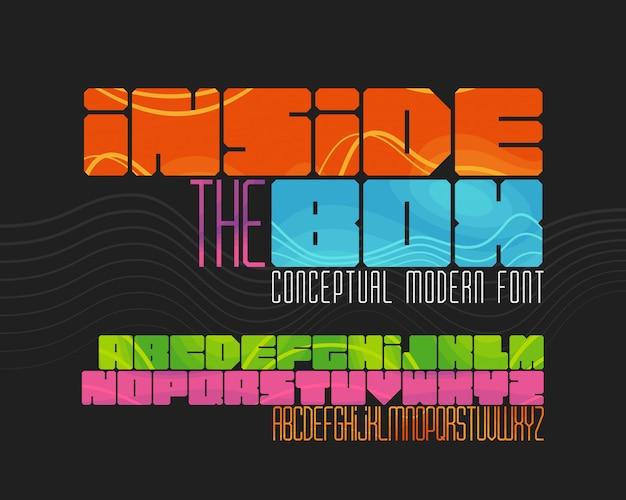 Modern gometrisch lettertype