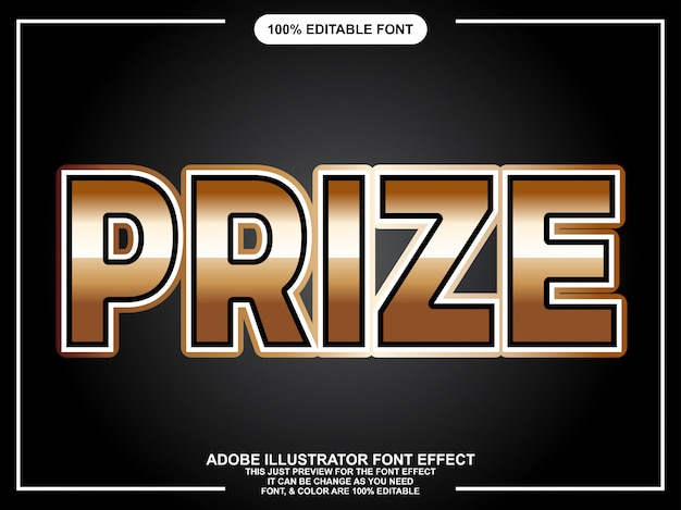 Modern goud vet bewerkbaar typografie lettertype effect