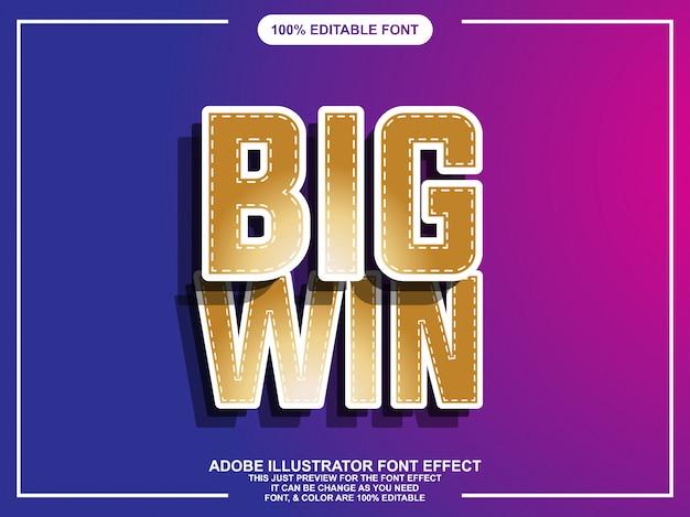 Modern gouden gewaagd editable illustrator teksteffect