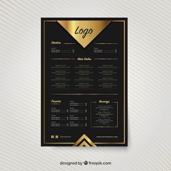 Modern gouden menu sjabloon