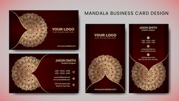 Modern gouden visitekaartje met luxestijl en elegant malplaatje
