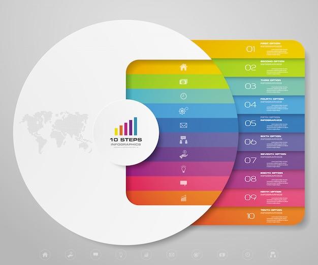 Modern grafiek infographic element