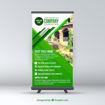 Modern groen bedrijf rollen op