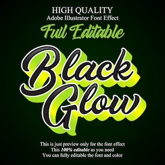 Modern groen glowscript bewerkbaar lettertype-effect